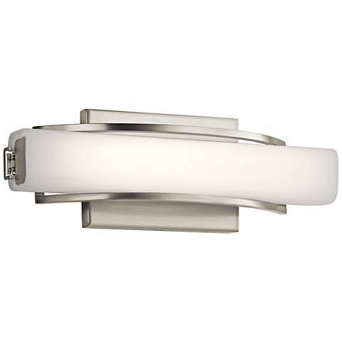 "Elan Rowan Brushed Nickel 13 1/4""W LED Small Bath Light"