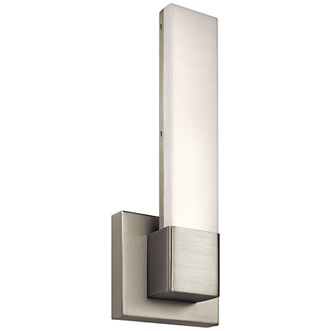 """Elan Neltev Nickel 14 1/2"""" High LED Downlight Wall Sconce"""