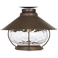 Ceiling fan light kits lamps plus lantern style oil rubbed bronze outdoor fan light kit aloadofball Choice Image