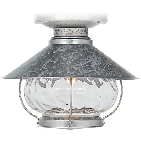 Tropical Lantern Galvanized Outdoor Fan Light Kit