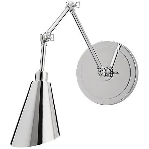 "Garamond 37 1/2""H Chrome Articulated Swing Arm Wall Lamp"