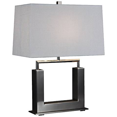 Urbane Brushed Satin Metal Table Lamp