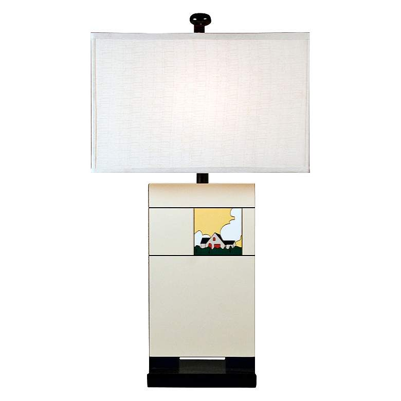 Home Sweet Home Off-White Modern Table Lamp