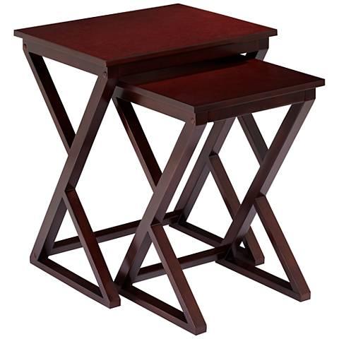 Edith 2-Piece Espresso Nesting Table Set