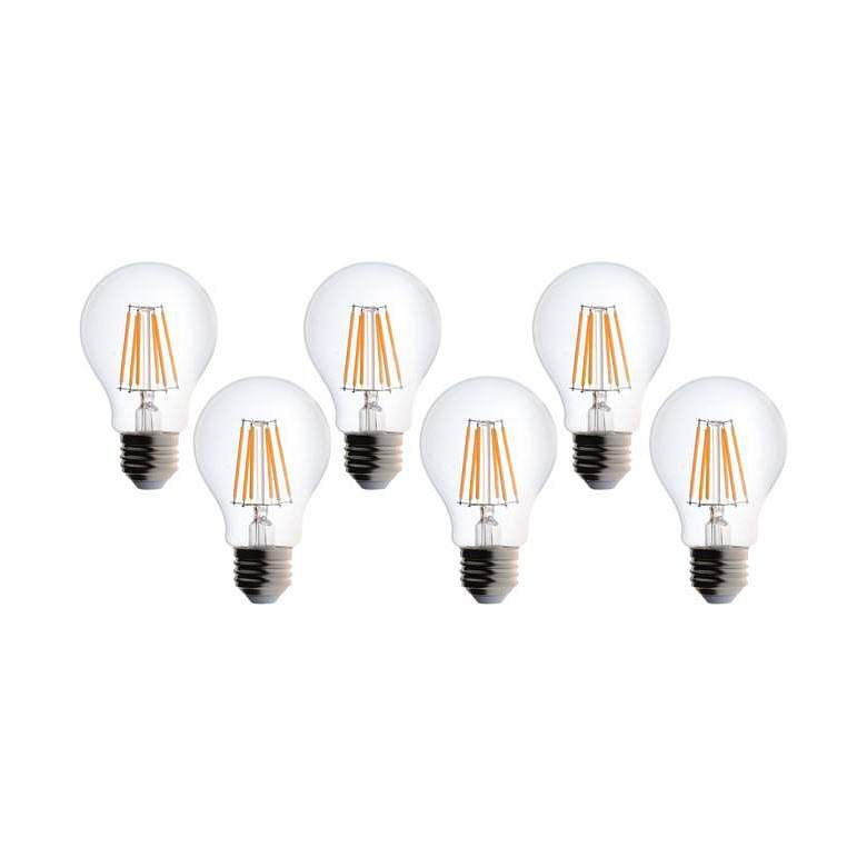 60W Equivalent Clear 8W LED Dimmable Standard 6-Pack