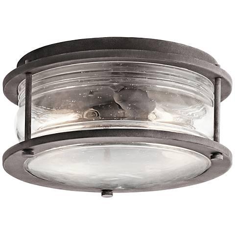 "Kichler Ashland Bay 12"" Wide Zinc Outdoor Ceiling Light"