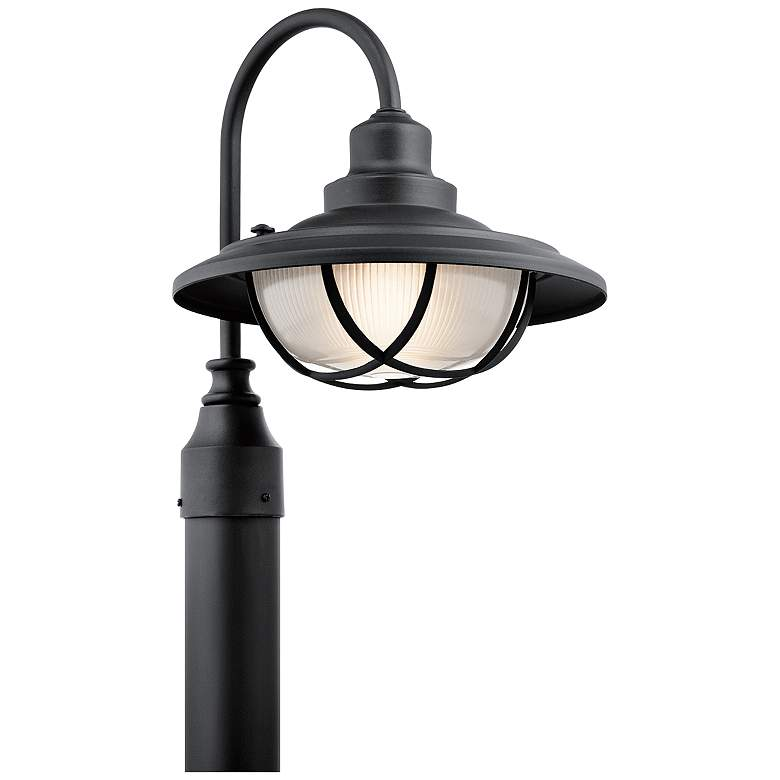 """Kichler Harvest Ridge 15 3/4""""H Black Outdoor Post Light"""