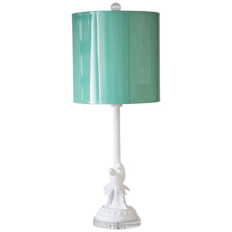 Couture Parrot Palm White Table Lamp