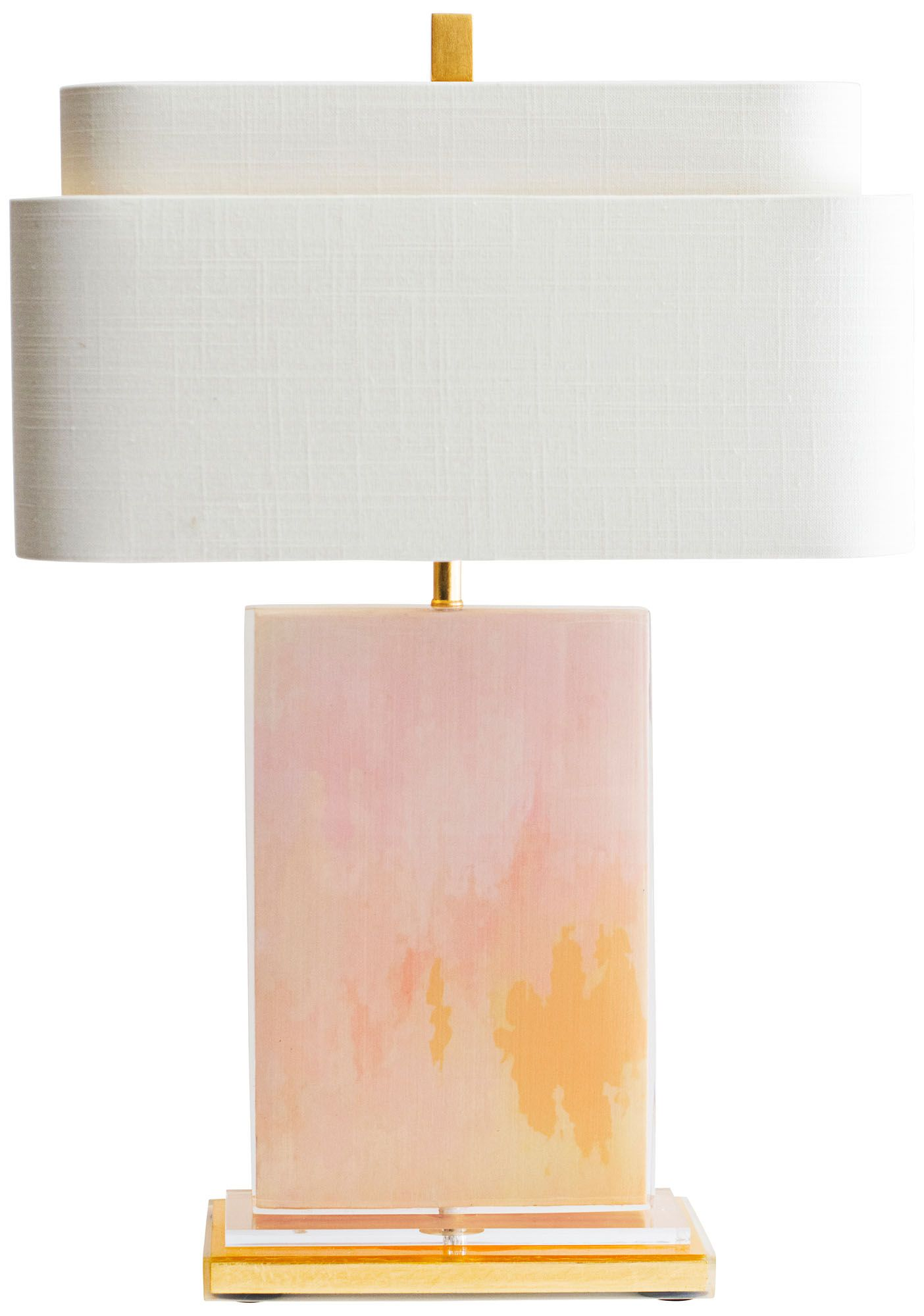 Great Couture Mirage Pink And Gold Table Lamp Images