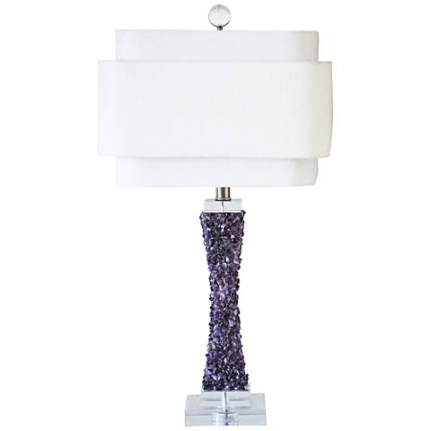 Couture Cienega Purple Quartz Stone Table Lamp
