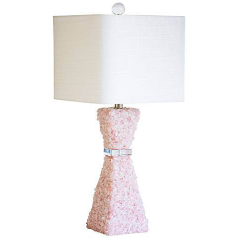 Couture Barrington Pink Quartz Stone Table Lamp