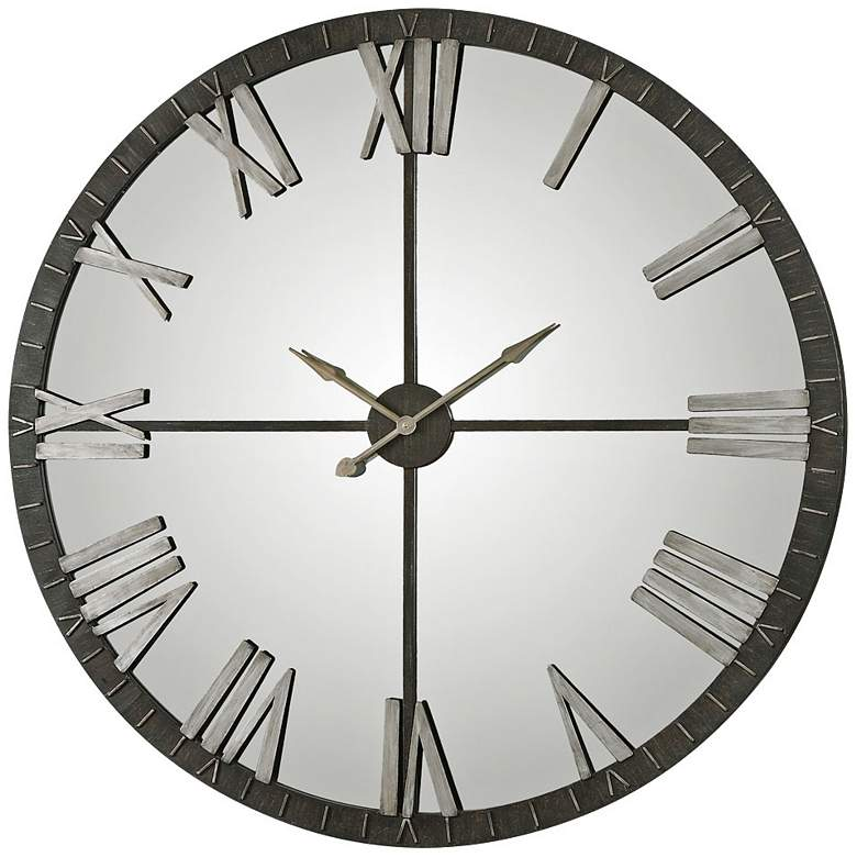 "Uttermost Amelie 60"" Round Metal Wall Clock"