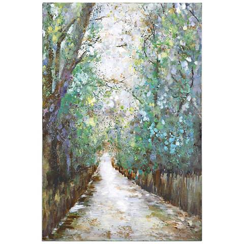 "Uttermost Greenway 60"" High Landscape Canvas Wall Art"