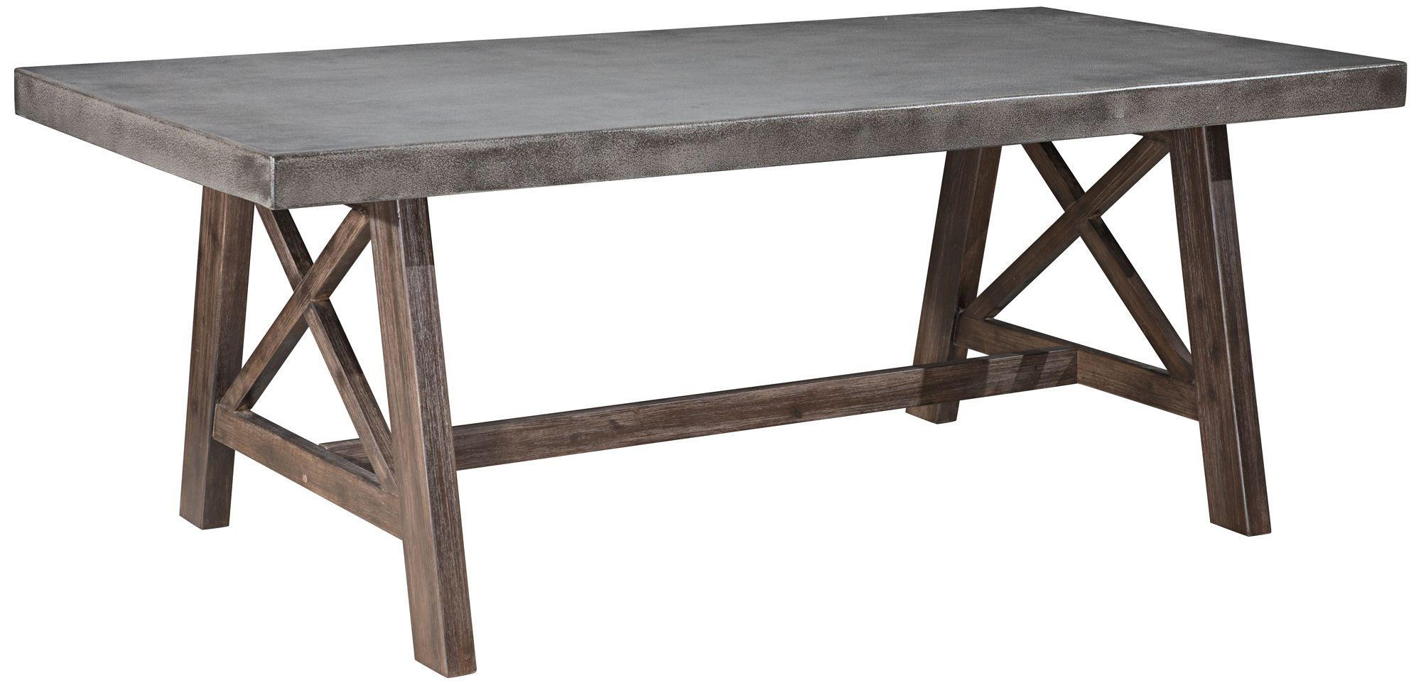 zuo ford cement top and acacia wood outdoor dining table 1y182 rh lampsplus com