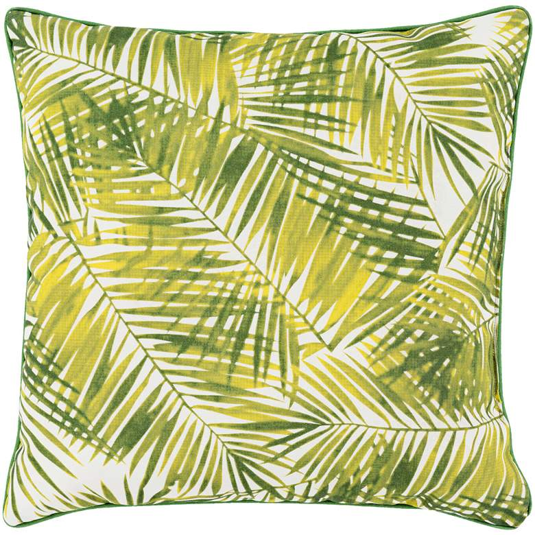 """Surya Ulani Palm Fronds 20"""" Square Indoor-Outdoor Pillow"""