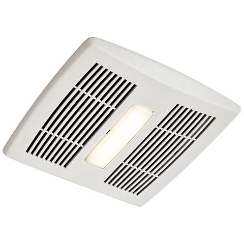 Broan InVent LED White 80 CFM 0.8 Sones Lighted Bath Fan