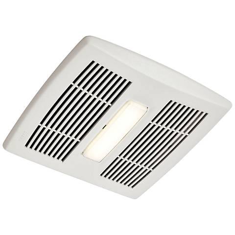 Broan Invent Led White 80 Cfm 0 8 Sones Lighted Bath Fan