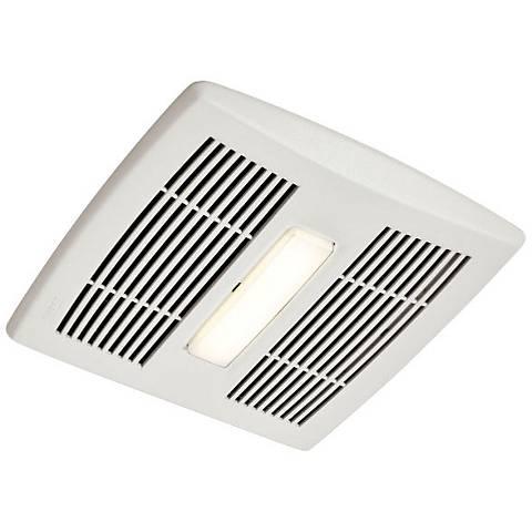 Broan InVent LED White 110 CFM 1.3 Sones Lighted Bath Fan