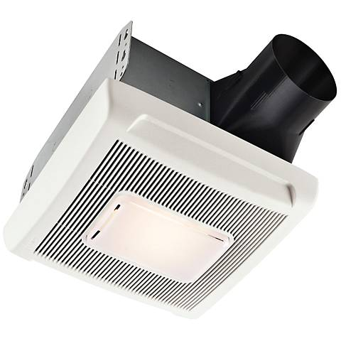 Broan InVent White 50 CFM 1.5 Sones Bath Fan with Light