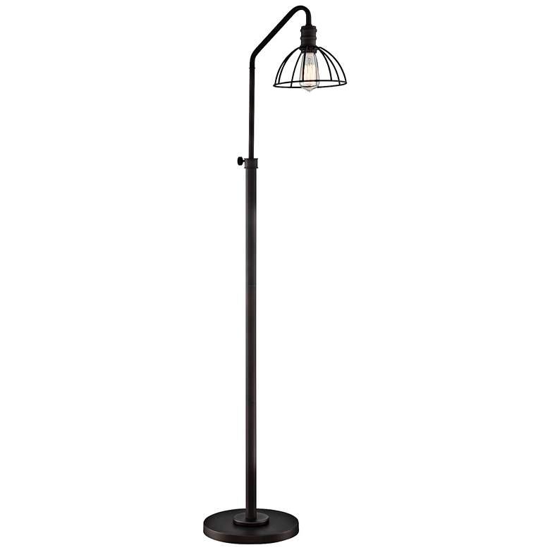 Lite Source Gaius Bronze Industrial Cage Floor Lamp