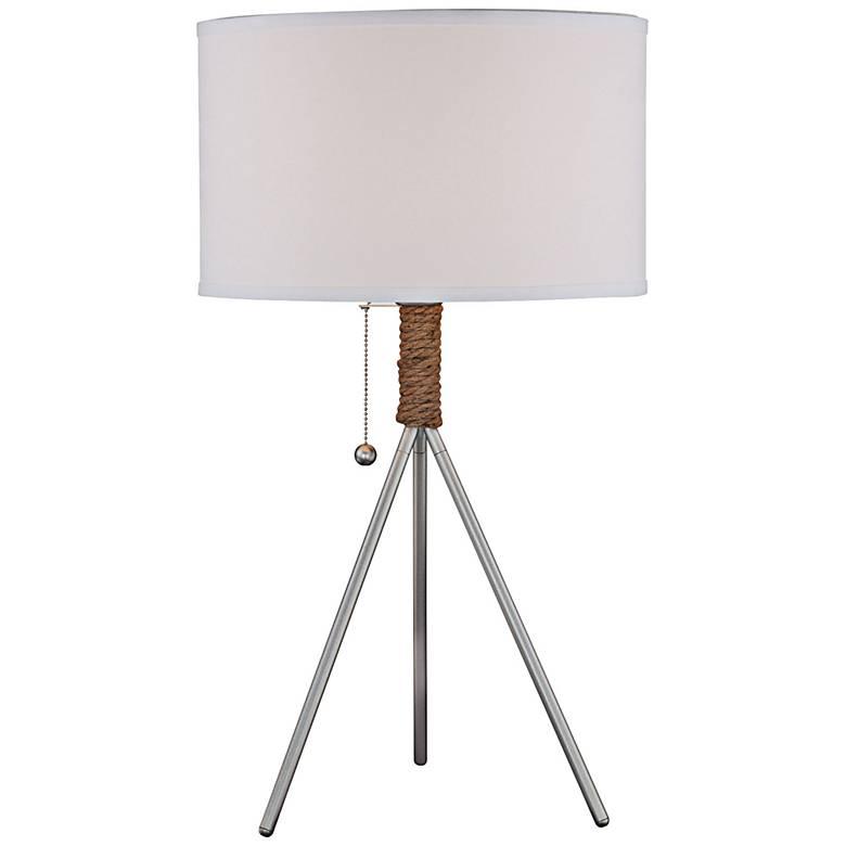 Lite Source Silver Metal Tripod Table Lamp