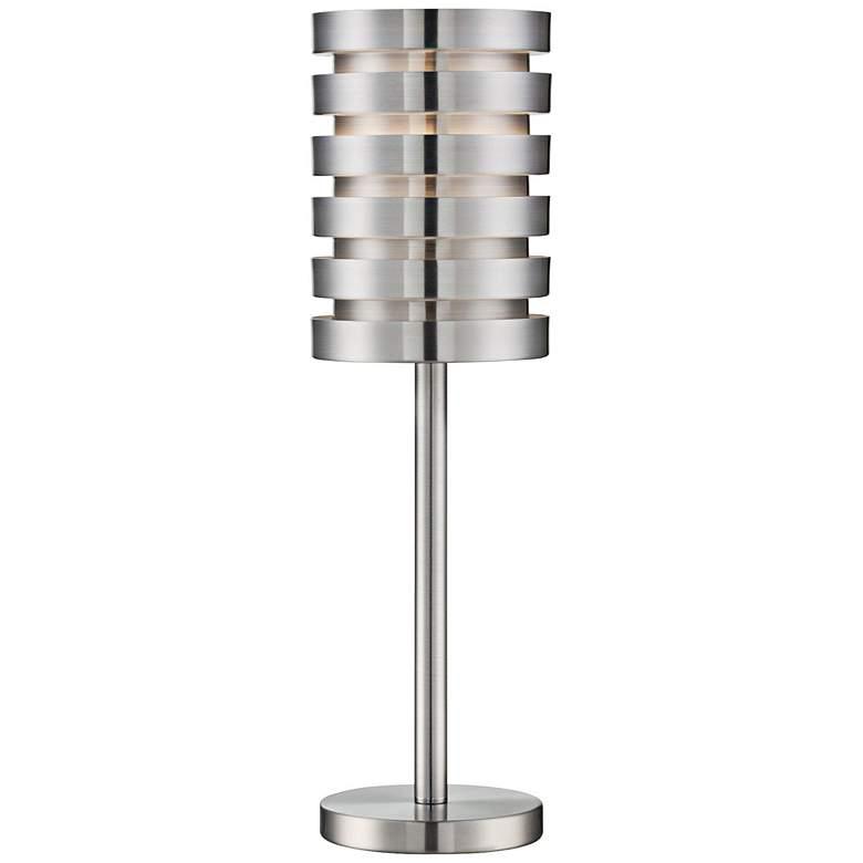 Lite Source Aluminum Slat Table Lamp