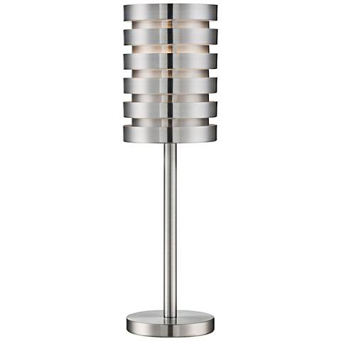 Lite Source Aluminum Slat Table Lamp