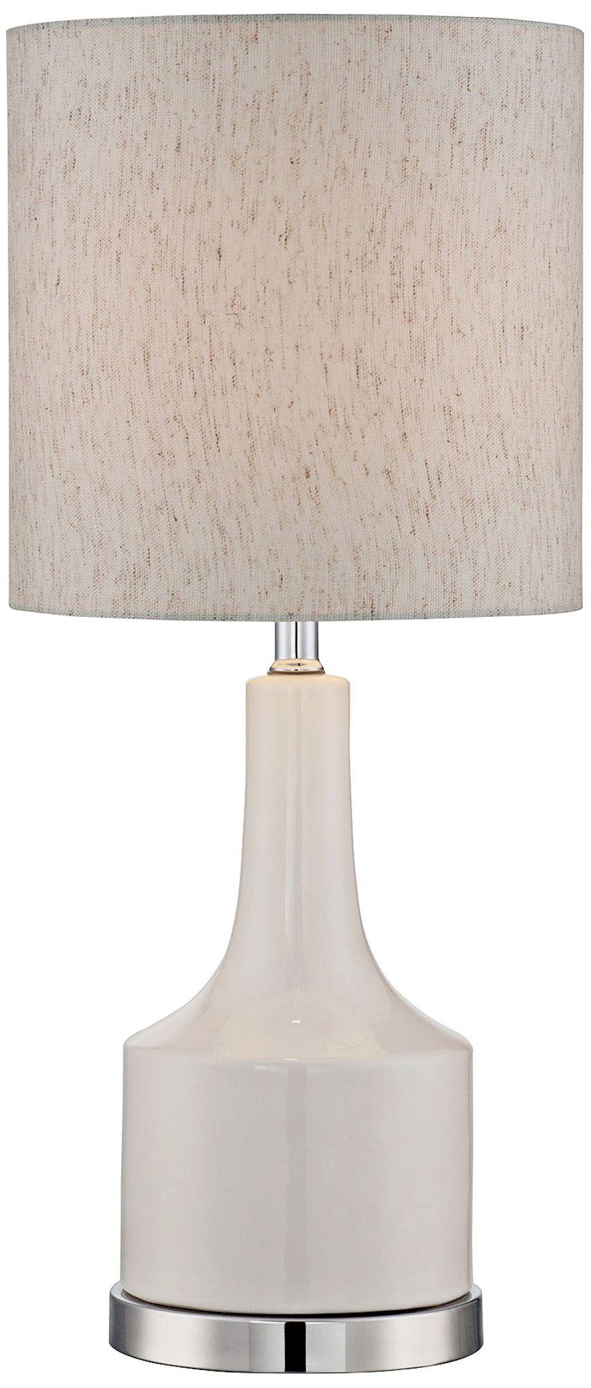 Lite Source White Ceramic Table Lamp