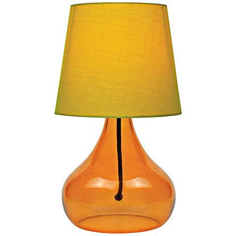 "Lite Source 14""H Orange Glass Jar Accent Table Lamp"