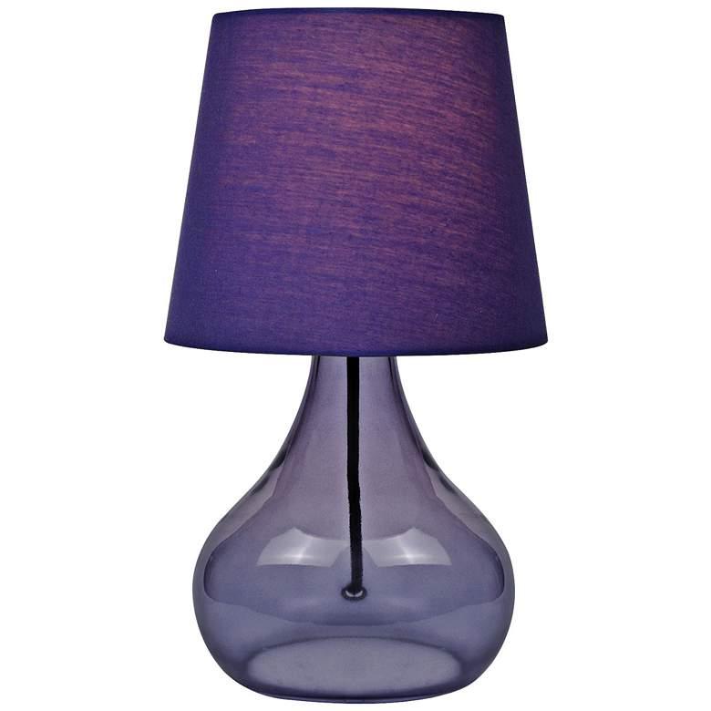 "Lite Source 14""H Purple Glass Jar Accent Table Lamp"