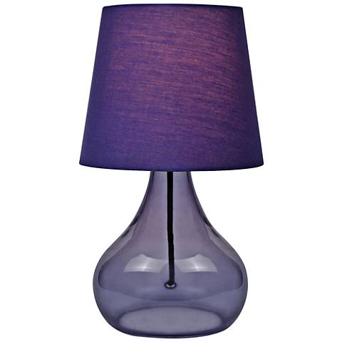 "Lite Source 14""H Purple Glass Jar Accent Table Lamp"