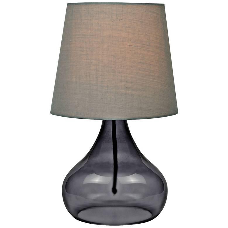 "Lite Source 14""H Smoke Glass Jar Accent Table Lamp"