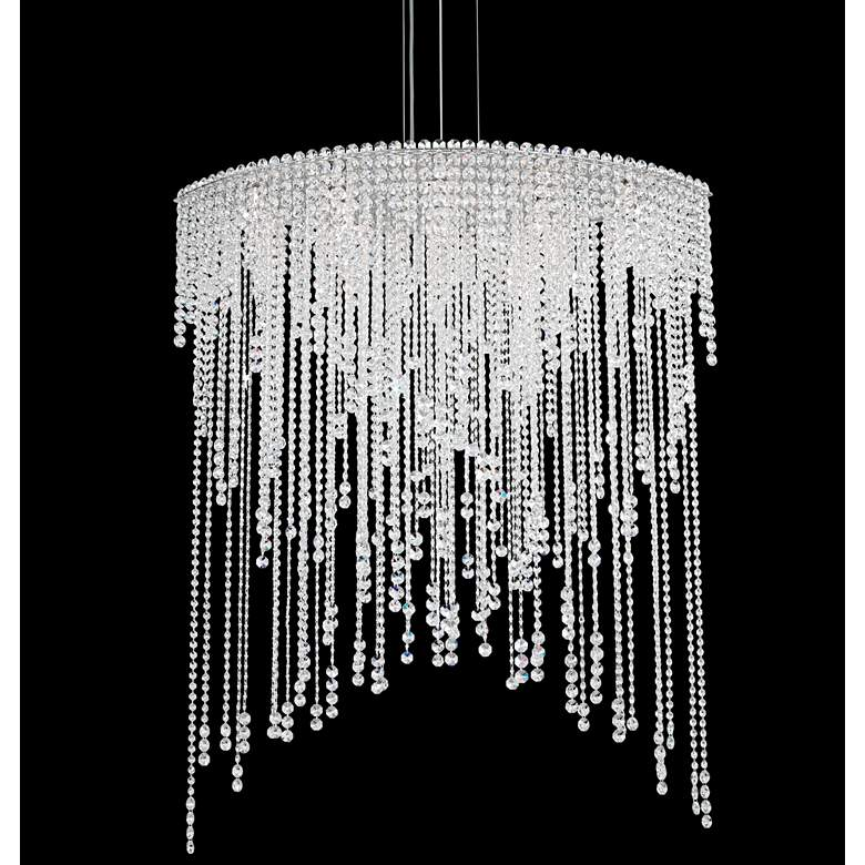 "Schonbek Chantant 43""W Stainless Steel Crystal Chandelier"