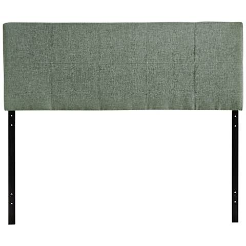Oliver Gray 10-Square Stitched Full Fabric Headboard