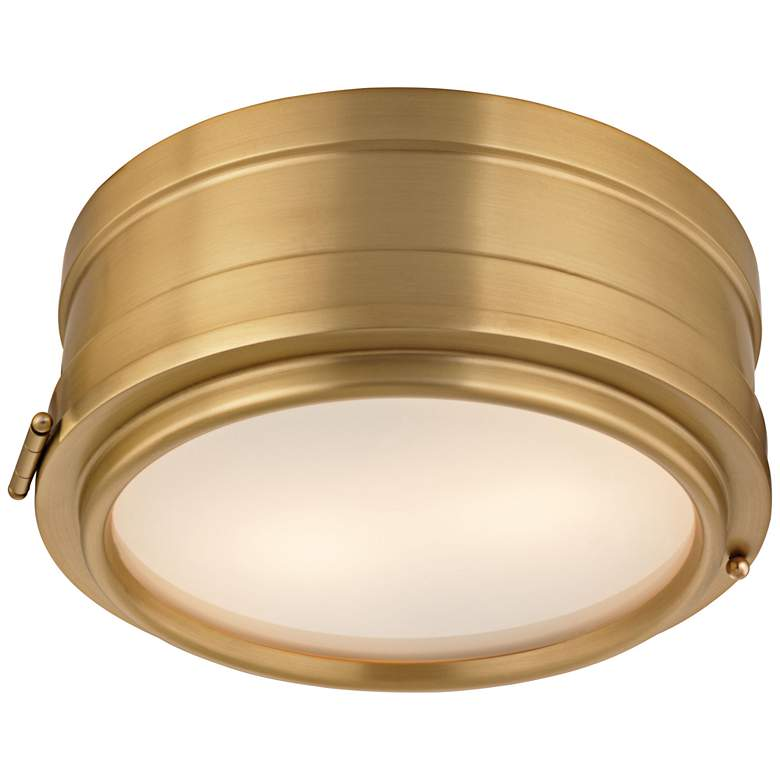 "Hudson Valley Rye 11"" Wide Aged Brass Ceiling Light"