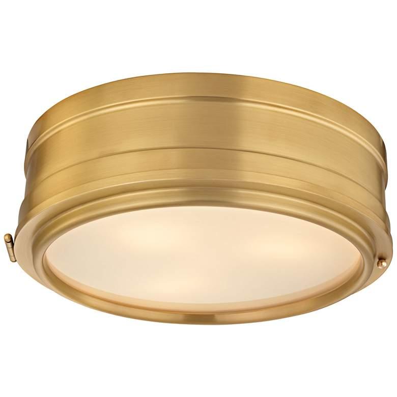 "Hudson Valley Rye 14"" Wide Aged Brass Ceiling Light"