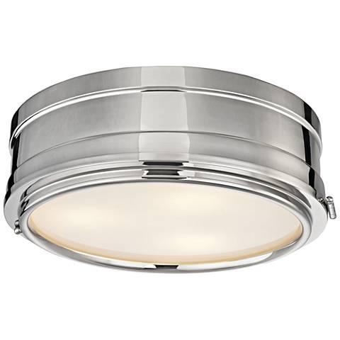 "Hudson Valley Rye 14"" Wide Polished Nickel Ceiling Light"