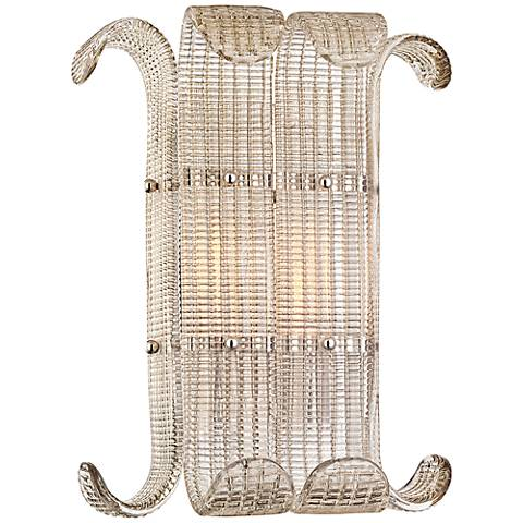 "Brasher 15 3/4"" High Polished Nickel 2-Light Wall Sconce"