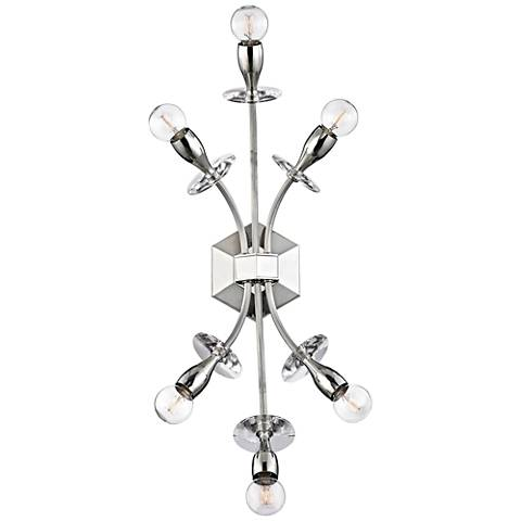 """Hudson Valley Alexandria 23""""H Polished Nickel Wall Sconce"""
