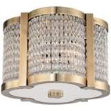 "Hudson Valley Ballston 12"" Wide Aged Brass Ceiling Light"