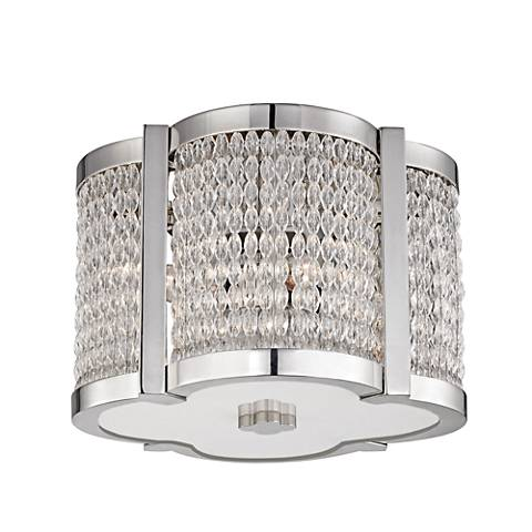 "Hudson Valley Ballston 12""W Polished Nickel Ceiling Light"