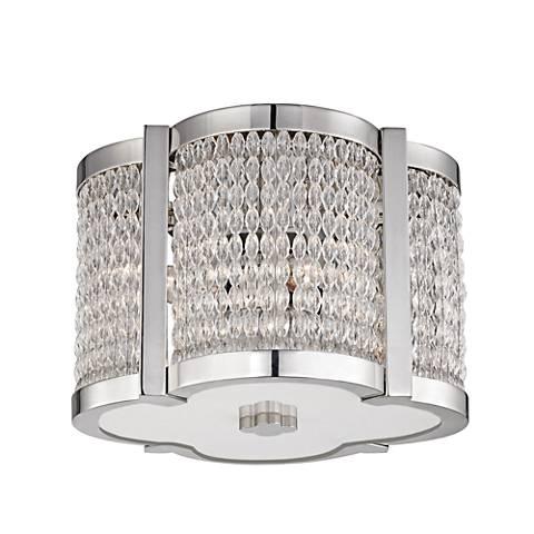 "Hudson Valley Ballston 12""W Polished Nickel Ceiling Light"