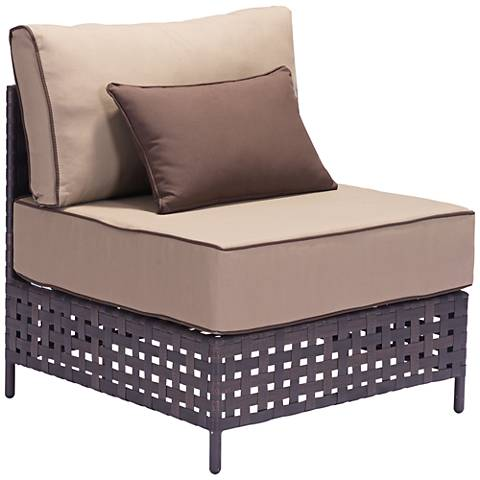 Zuo Pinery Brown and Beige Outdoor Middle Chair