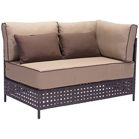 Zuo Pinery Brown Outdoor Right Hand Facing Corner Chaise