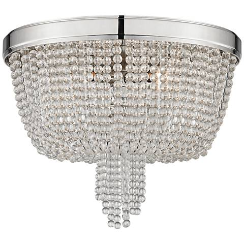 "Royalton 18 1/4"" Wide Polished Nickel Ceiling Light"