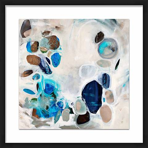 "Opals Treasure 21 1/2"" Square Framed Giclee Wall Art"