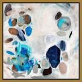 "Opals Treasure 21 1/2"" Square Framed Canvas Wall Art"
