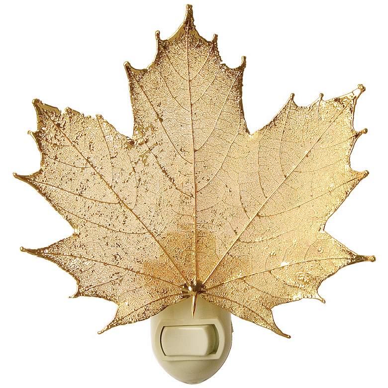 Antique Gold Real Leaf Sugar Maple Night Light