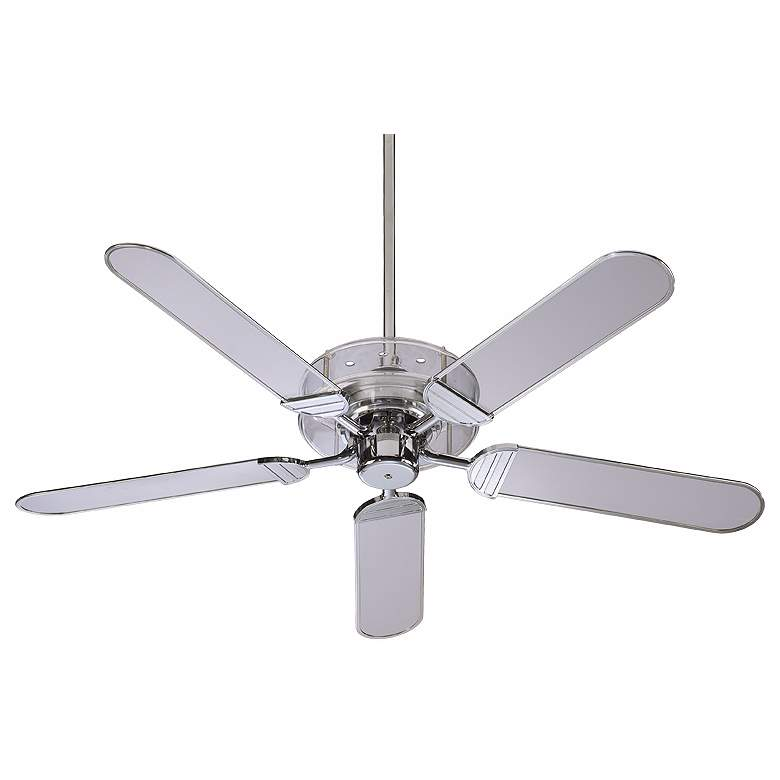 """52"""" Quorum Prizzm Acrylic and Chrome Ceiling Fan"""