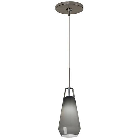 "Tech Lighting Lustra 3 3/4""W Crystal Bronze Mini Pendant"